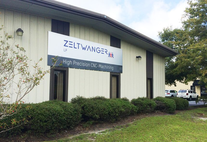 Gebäude von ZELTWANGER CNC Manufacturing in Charleston, South Carolina, USA